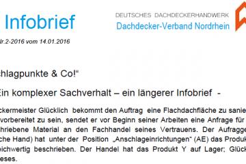 Infobrief Anschlageinrichtungen Beratungshaftung Handel Dachdeckerinnung Nordrhein