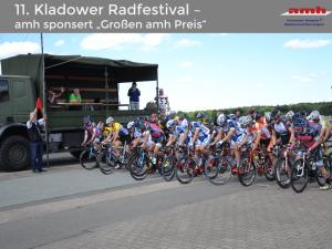 """Start des Radrennens """"Großer amh Preis"""" beim Kladower Radfestival"""