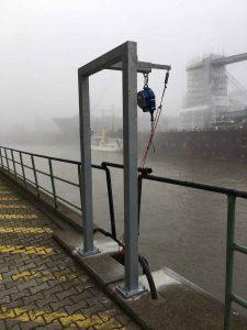Die Absturzsicherung von amh am Hamburger Hafen